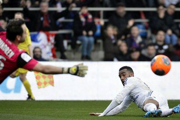 Le dernier rempart de Montpellier, Geoffrey Jourdren, a été décisif contre Lyon. Stade Gerland le 2 mars 2014.
