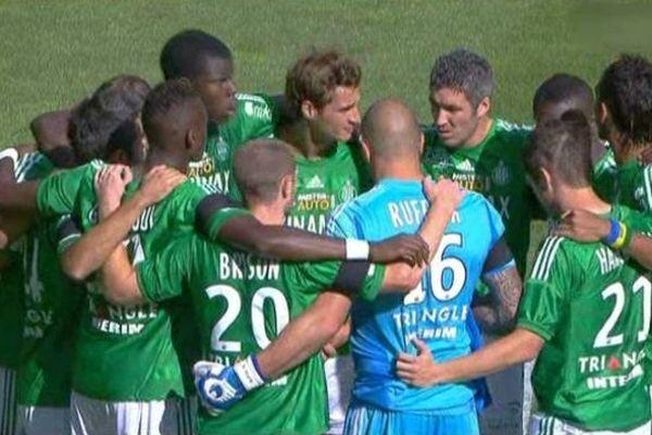 Les joueurs de l'ASSE lors du match face à bastia (02/09/2012)