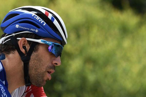 Le coureur franc-comtois Thibaut Pinot a couru une soixantaine de kilomètres pour son retour sur un vélo.
