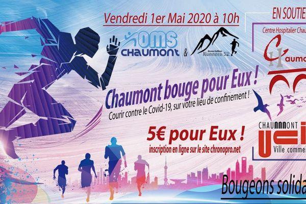 Une course solidaire, chacun chez soi, organisée le 1er mai en Haute-Marne.