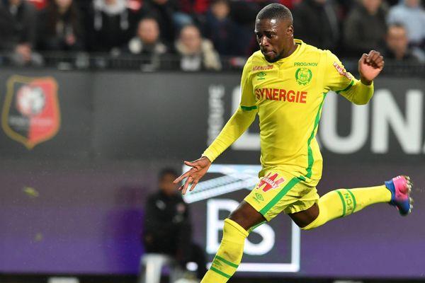 Jules Iloki, auteur d'un but le 28 janvier contre Rennes.