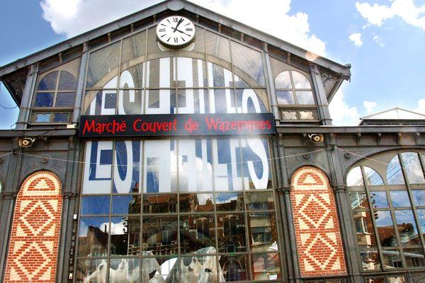 Les Halles, marché couvert de Wazemmes à Lille.