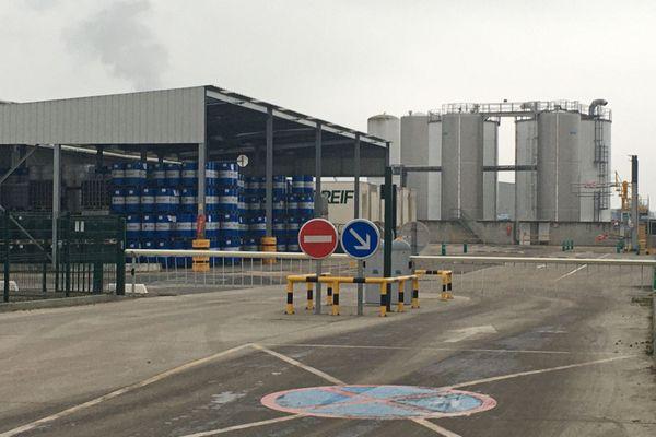 Janvier 2021- Entrée de l'entreprise Multisol à Saint-Etienne du Rouvray, au sud de Rouen