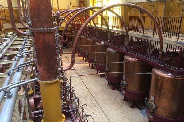 Les alambics de la distillerie Cointreau à Saint-Barthélemy-d'Anjou