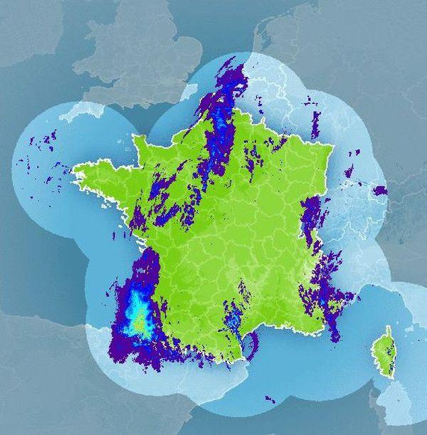 Animation radar météo France 22 novembre 2016