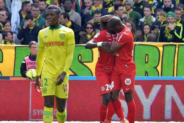La détresse de Birama Touré après le but de Dabo, le 17 avril 2016.