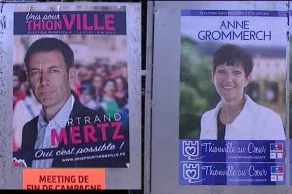 Bertrand Mertz (PS) et Anne Grommerch (les Républicains) se disputent le fauteuil de maire de Thionville.
