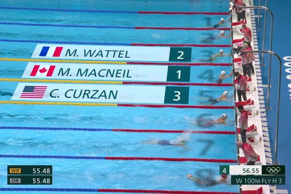 2ème de sa série, Marie Wattel se qualifie pour les demi-finales du 100m papillon