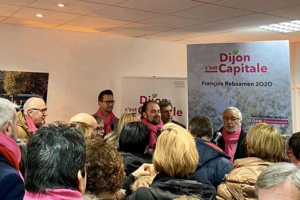 François Rebsamen, maire PS sortant de Dijon, a inauguré son local de campagne samedi 25 janvier 2020. Il sollicite un 4e mandat aux élections municipales des 15 et 22 mars 2020.