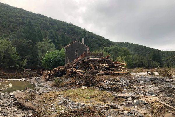 Saint-André-de-Majencoules après la crue