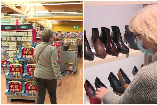 Les magasins de jouets (ici à Beauvais) et d'habillement (Amiens) ne font pas partie des commerces autorisés à ouvrir (images d'illustration).