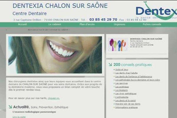 Le site internet de Dentexia