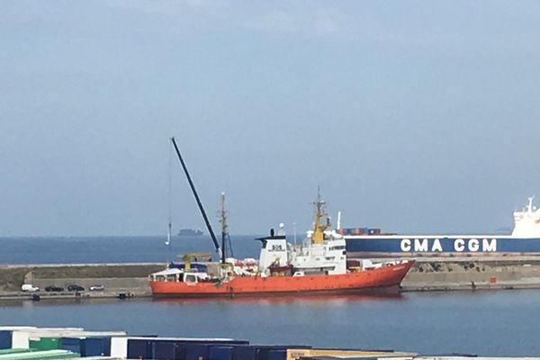 L'Aquarius, la bateau de SOS MEDITERRANEE, à Marseille depuis ce matin
