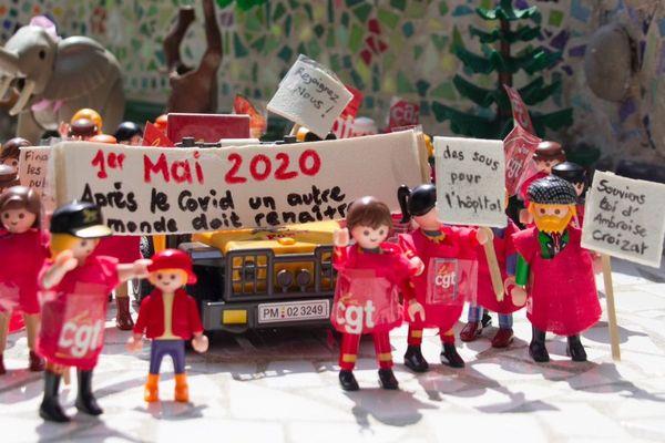 Une manif Playmobil du 1er mai imaginée par une militante CGT