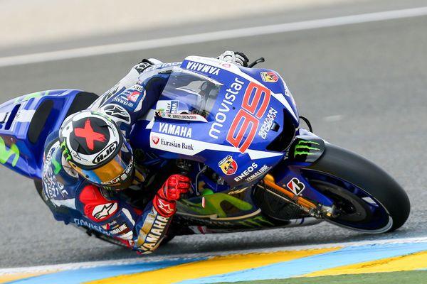 Jorge Lorenzo vainqueur du Grand Prix de France Moto sur Yamaha au Mans le 17 mai 2015