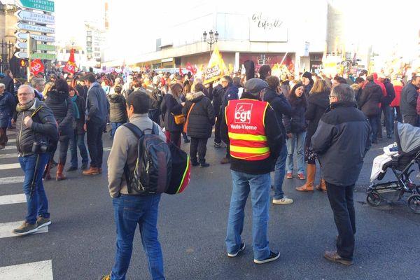 Plusieurs centaines de manifestants se sont rassemblés dans le centre ville de Limoges.
