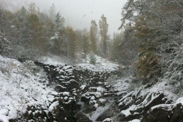 L'arrière-pays niçois sous la neige, le 28 octobre au matin