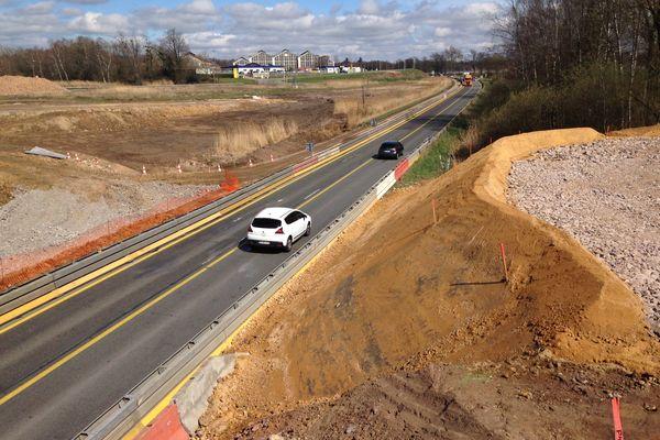 Le chantier sur la RN 79 a repris, ce lundi 22 mai 2017.