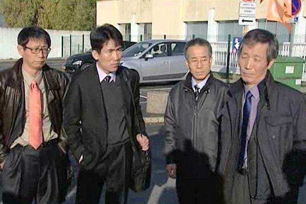 Des représentants du géant sud-coréen Hyundai en visite à la raffinerie Pétroplus de Petit-Couronne.