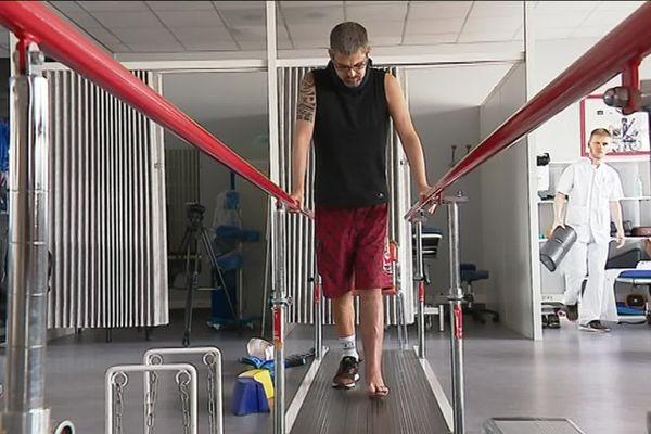 Ce blessé de guerre est soigné à l'hôpital Lavéran à Marseille