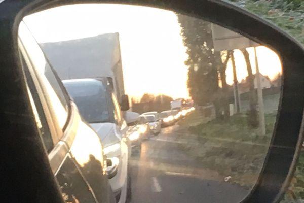 Entre Cuverville et Colombelles, entre 8heures et 9 heures ce lundi matin, 19 novembre 2018