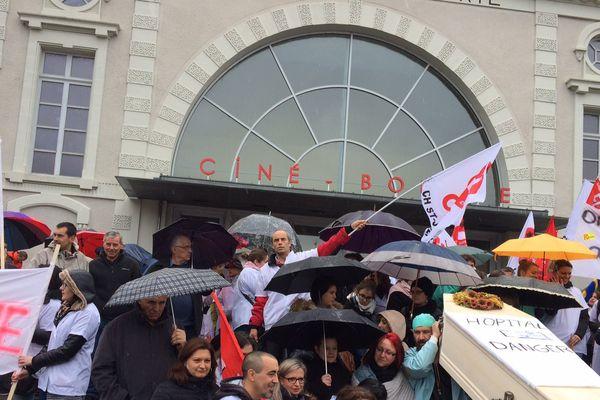 Manifestation du personnel du centre hospitalier à St-Junien