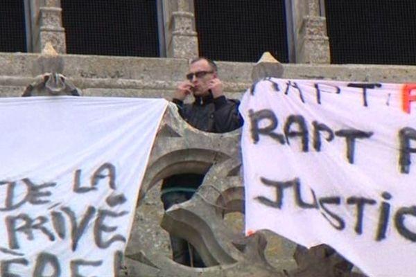 Stéphane Joly sur la terrasse de la cathédrale d'Orléans