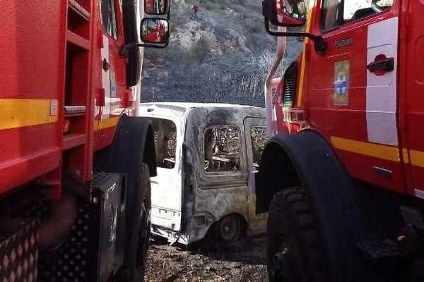 L'incendie a parcouru plusieurs hectares dans le massif de la Nerthe.