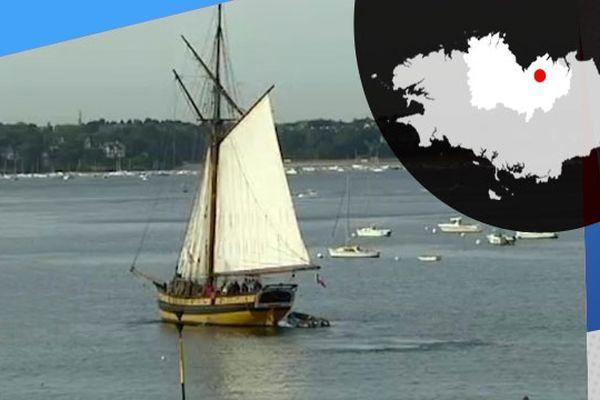 Réplique du bateau de Surcouf, le Renard