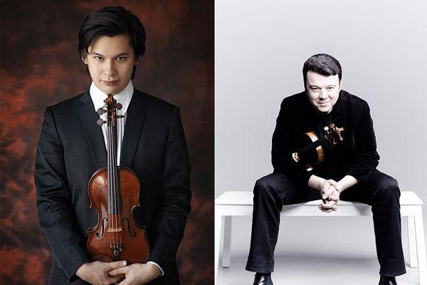 Les violonistes Aylen Pritchin et Vadim Gluzman