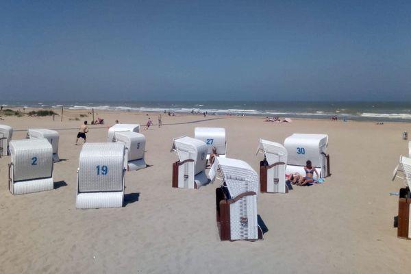 La plage de Merville-Franceville est longue de 7 kilomètres