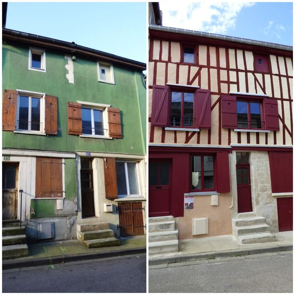 Le 15 rue des royaux avant et après les chantiers participatifs organisés à la ville de Joinville.