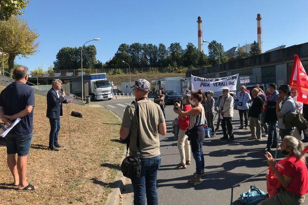 Mobilisation ce mercredi sur le site de Verallia en Charente.
