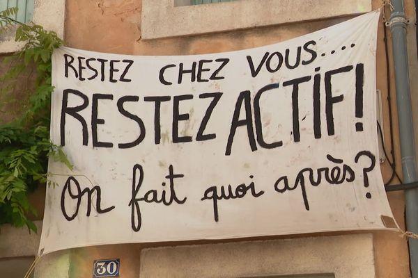 Montpellier - ça revendique au balcon ! - 1er mai 2020.
