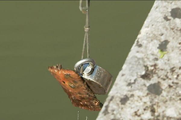 La pêche à l'aimant dans le Doubs reste, comme ailleurs, illégale.
