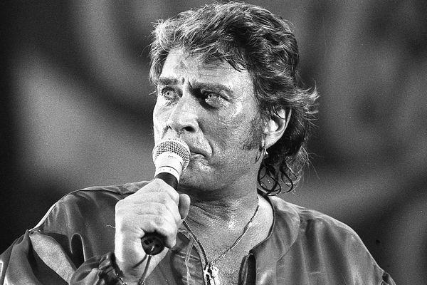 Johnny Hallyday lors du concert de ses 50 ans au Parc des Princes. Photo Laurent Lagneau