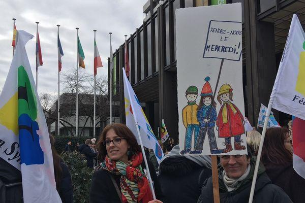 L'appel à la grève a été très suivi, une école deux étant fermé à Strasbourg ce mardi