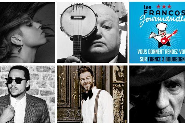 Aux Francos Gourmandes, le spectacle sera assuré par Lou Di Franco, Pigalle, Louis Bertignac, Ben L'Oncle Soul et Christophe Maé samedi 14 juin 2014