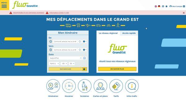 L'application Fluo Grand-Est propose des déplacement depuis votre lieu de départ jusqu'à votre lieu d'arrivée en incluant le train.