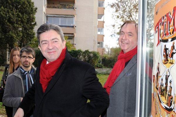 Jean-Christophe Sellin, Jean-Luc Mélenchon dans le quartier de la Reynerie à Toulouse