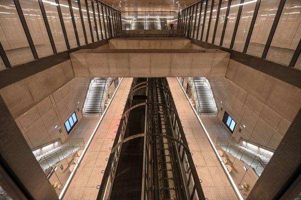 La nouvelle station Mairie de Saint-Ouen de la ligne 14