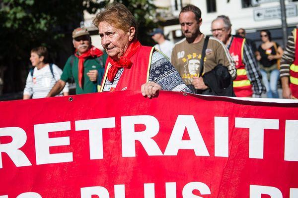 Manisfestation sur la réforme des retraites