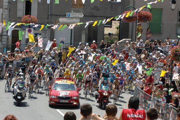 Sisteron, ville de départ le 14 juillet 2010.
