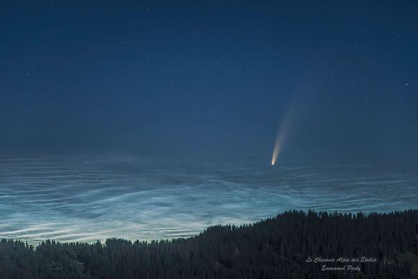 La comète Neowise photographiée dans le ciel de Haute-Savoie