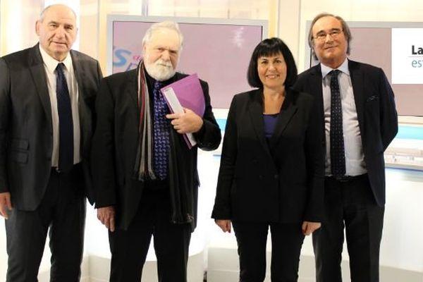 De gauche à droite  : André LUBRANO, François LIBERTI, Marie-Christine AUBERT et François COMMEINHES