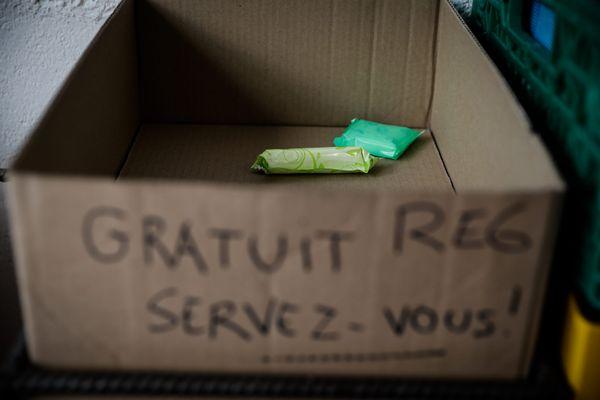 Une collecte de protections périodiques est organisée à Grenoble jusqu'au 31 octobre 2021. (Illustration)