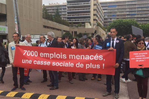 A Marseille, près de 400 commissaires aux comptes dans la rue.