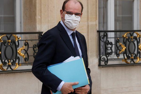 Le Premier ministre, Jean Castex, quitte Matignon pour un déplacement à Lyon prévu le 10 avril 2021 à, Lyon (Rhône).