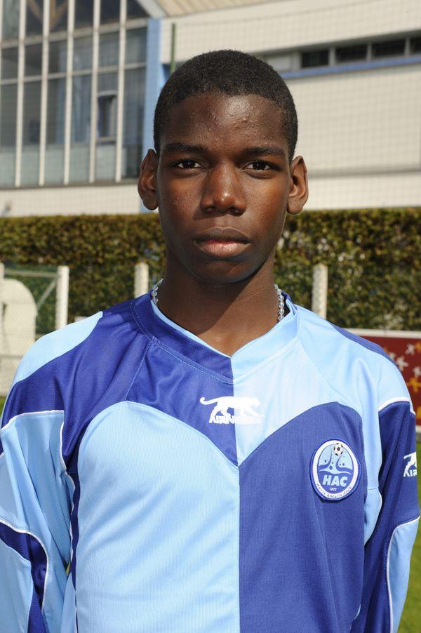 Paul Pogba a porté les couleurs du Havre lors de sa formation.