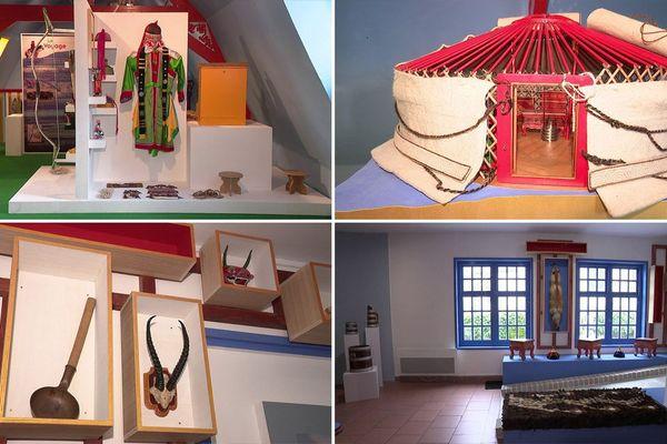 Les salles du musée dédié à la Mongolie à Rubrouck